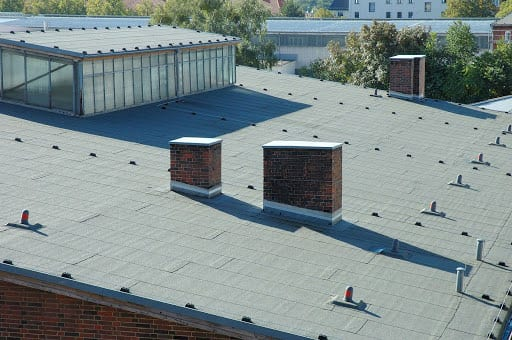 Flat roofing system at a Mechancisburg PA business.